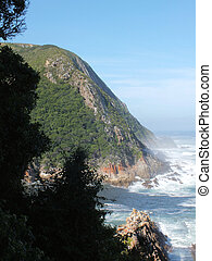 Storms River Mouth - The mouth of the Storm River where it...