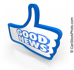 Good News Thumbs Up Like Announcement Important Update - The...