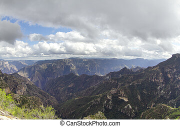 coper canyon, sierra madre - a shot of the coper canyon in...