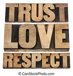 trust, love and respect