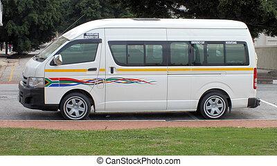 SUL, africano, minibus, táxi