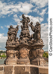 Statues of Saints at the Charles Bridge in Prague