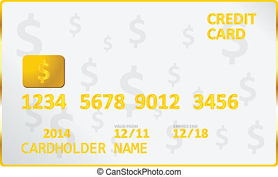American Dollar Credit Card Vector Illustration