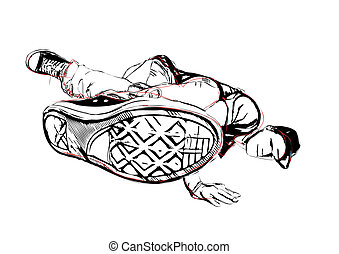 breakdancer illustration - illustration of breakdancer on...
