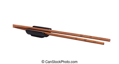 pair of Chopsticks on a white background