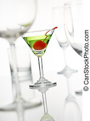 martini stand out from the other glasses