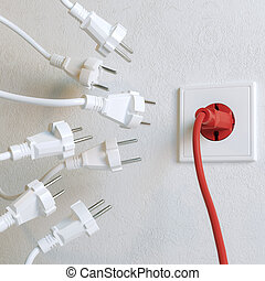 White Sockets Need To Plugging In (Red Winner Version)