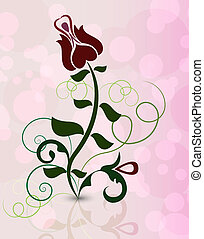Abstract rose flower on pinky background vector illustration...