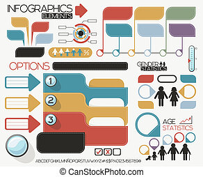 infographics elements vector set