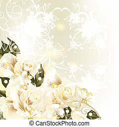 Beautiful design background with pa - Cute wedding...