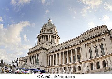 Capitolio, edificio, centro, La Habana, Cuba
