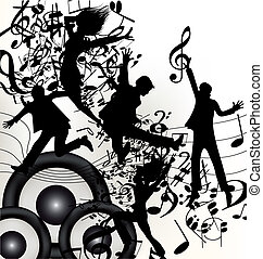 Conceptual music background with ju
