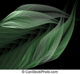 Stacked Leaves Abstract - Beautiful, natural layered leaves...