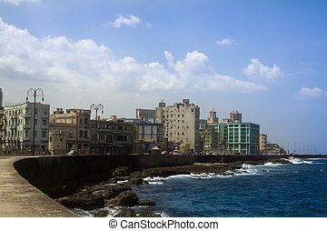 havana, cuba - havana center and the malecon, cuba
