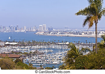 View of San Diego California from Point Loma. - San Diego...