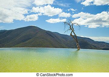 hierve, el, Agua, Oaxaca, estado, México