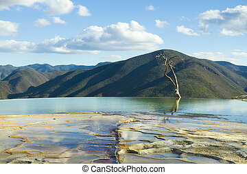 hierve el agua in oaxaca state, mexico - the unique and...