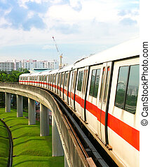 Singapore MRT - Singapore Mass Rapid Transit MRT Train...