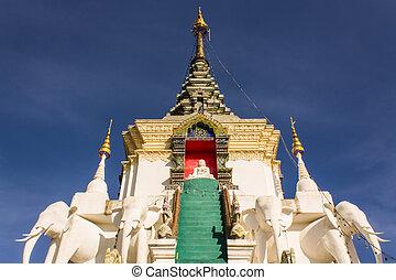 Stupa  in Wat Mokkanlan , Chomthong Chiangmai Thailand