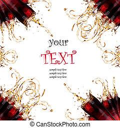 texto, coca-cola, amostra, respingo, fundo, fresco