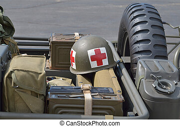 red cross US Vietnam War Helmet