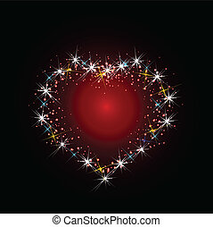 Constellation of love illustration