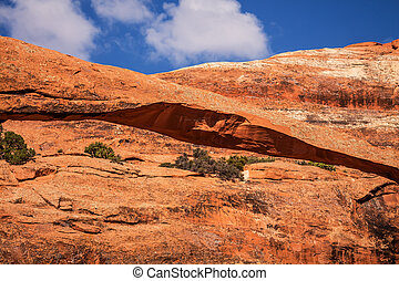 Landscape Arch Close Up Rock Canyon Abstract Devils Garden...