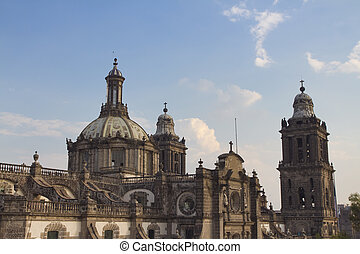 cathedral mexico df - the main cathedral in mexico city,...