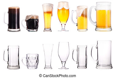 Beer glasses. Part of a collection of glasses and drinks...