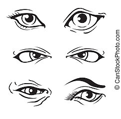 Various Eyes - Various Illustrated human eyes