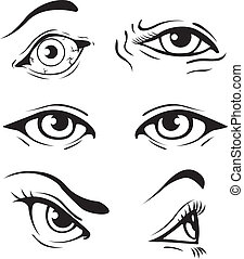 divers, yeux