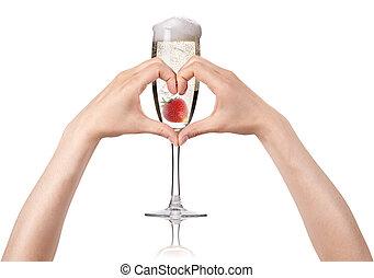 love champagne concept