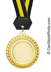 blank gold medal for strip in wording