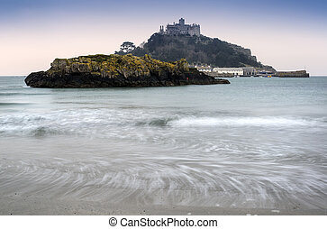 St Michaels Mount Bay Marazion landscape sunrise long...