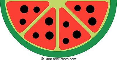 Watermelon fruit logo
