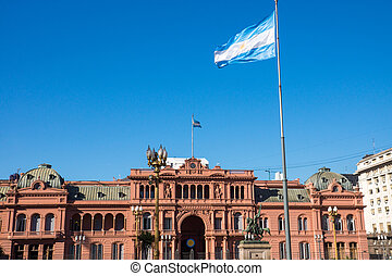 The famous Casa Rosada in Buenos Aires, Argentina