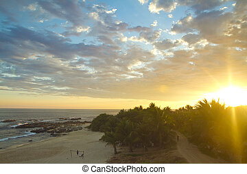sunset in mexico - beautiful sunset over the pacific ocean...