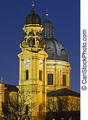 The famous Theatinerkirche church in Munich, Germany