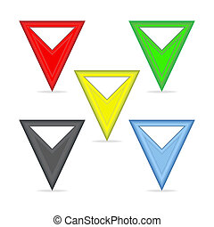 Triangular pointers