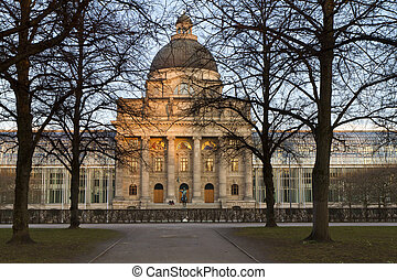 "The historic government building ""Staatskanzlei"" in Munich,..."
