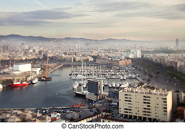 barcelona skyline view - the beautiful barcelona skyline...
