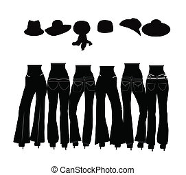 ladies wearing jeans silhouette - ladies jeans concept