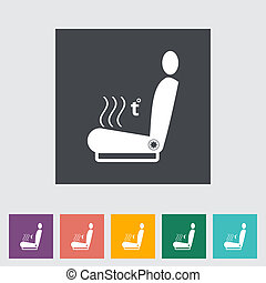 Icon heated seat Vector illustration