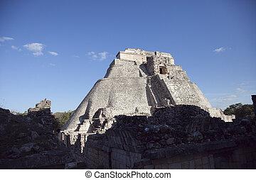 mayan ruins at uxmal, mexico
