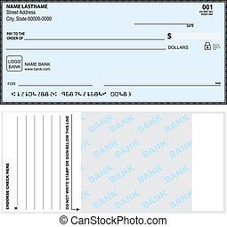 opção, banco, cheque