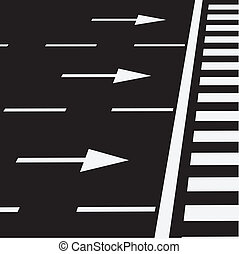 Pedestrian crossing - The marking of the road at a...