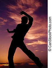 Dance Moves - silhouette of a guy dancing