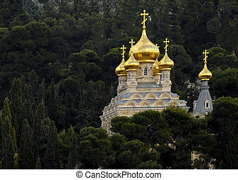 Russian Orthodox Church of St Mary Magdalene from Israel