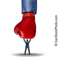 Stop The Competion - Stop the competition business concept...