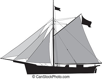 Cutter, sailing cargo vessel - Historic Sailing cargo...
